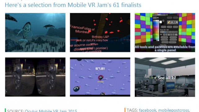 Engadget includes Circumpaint in Selected List of Mobile VRJam Finalists